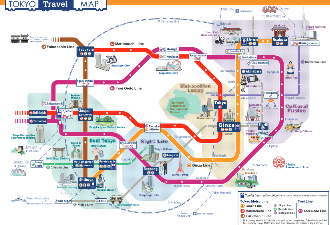 Tokyo Metro Map Guide