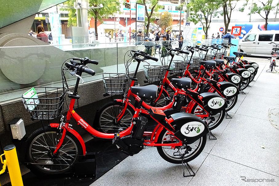 Bike sharing in Tokyo