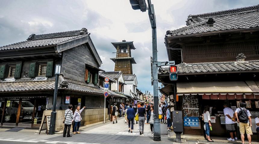 Old traditional towns in Japan